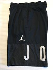 Mens Nike Dri Fit Air Jordan Shorts Black Sz Large Basketball Athletic Spell Out