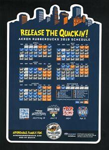 Akron RubberDucks--2019 Magnet Schedule--Indians Affiliate