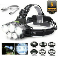 350000LM 5X T6 LED Rechargeable Super Bright Headlamp Headlight Flashlight Lamp