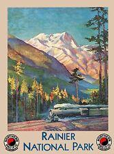 Rainier National Park Washington United States Travel Advertisement Poster