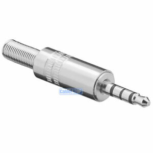 1 x 3.5 mm Stereo Jack 4 POLE Plug Solder Audio Connector Metal 3.5mm Adapter