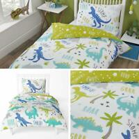 Kids Duvet Covers Green Roarsome Dinosaurs Childrens Quilt Cover Bedding Sets