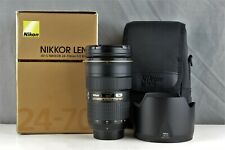 NIKON AF-S 24-70mm f/2.8G ED Nano Zoom Lens Boxed In Immaculate Condition