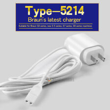 Genuine New Braun Power Adapter Cord Shaver Charger 12V 0.4A TYPE 492-5214 White