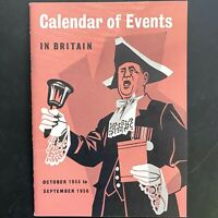 1955-1956 GREAT BRITAIN vintage tourism booklet CALENDAR OF EVENTS IN BRITAIN