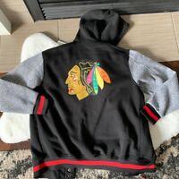 Men's Chicago Blackhawks Letterman Varsity Sweater Bomber Jacket Nike Medium