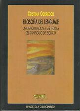 Filosofia del lenguaje, Cristina Corredor