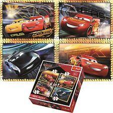 Trefl Disney 4 in 1 70+54+48+35 Piece Jigsaw Puzzle For Kids Cars Ready To Race