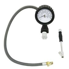 Pro LEMATEC car tire inflator with gauge with 76 cm hose and air dual tire chuck