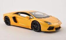 WELLY 1:24 W/B LAMBORGHINI AVENTADOR LP700-4 Diecast Car Model Yellow Color
