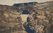 Vintage Giant Boulder Dam Postcard, Colorado River, Hand Tinted,Unused