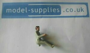 Dinky reproduction painted Grey metal Civilian driver - fits Dinky 131 & 132