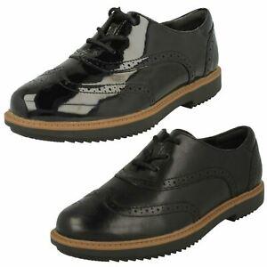 Ladies Clarks Formal Brogue Shoes Raisie Hilde