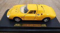 BBURAGO FERRARI 250 LE MANS 1965 YELLOW 1:24 Rare Yellow Dumay Gustave Gosselin