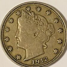 1912 liberty V nickel High Grade coin! Free shipping !      #DL778