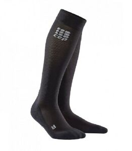 CEP Mens Recovery+ Socks - Compression for Recovery - Black, Size 4