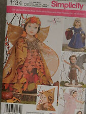"Uncut Simplicity 1134 Doll Clothes Patterns for Size 18"" Girl Dolls"