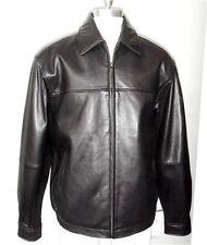 New 110235 Boston Harbour Men Med Black Top Grain Lambskin Leather Bomber Jacket