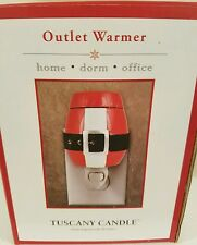 Tuscany Candle Christmas Outlet Warmer New in Box Santa Suit