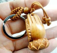 40*23MM Hand-carved hand Wooden Crafts,Key Chain,Key Ring Lover e4