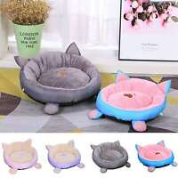 Cat Bed Round Washable Pet Bed Matching Cushion for Cats Kittens Small Dogs