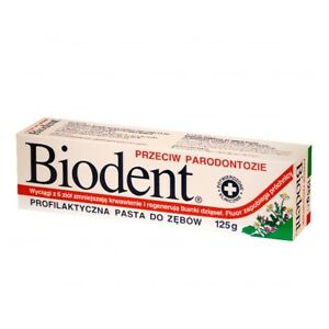 Biodent periodontitis prophylactic toothpaste 125g- Made in Europe-FREE SHIPPING