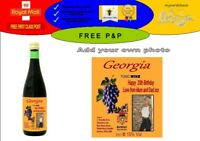 PERSONALISED BUCKFAST TONIC LABEL ANY OCCASION GREETING ADD YOUR OWN PHOTO