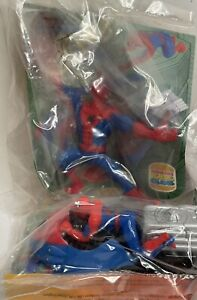 Spiderman Action Figure Lot Of 2 Burger King Toy europe Edition