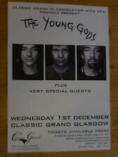 The Young Gods - Glasgow dec.2010 tour concert gig poster