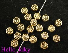 250Pcs  Antiqued gold ornate flower spacer beads A293
