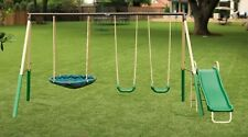 Swingset Kids Playset Backyard Fun Playground Swings Slide Outdoor Swing Set New