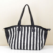 Women Genuine Leather Handmade Colorful Woven Patch Handbag Shoulder Bag 8809