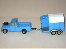 Vintage 1970s CORGI Landrover 109 & Rice Beaufort Horse Box Trailer Gift Set 15!