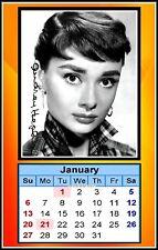 The 2019, Audrey Hepburn, Signed MINI WALLET CALENDAR, Limited Edition (AH-1)