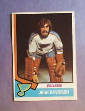 1974-75 O-Pee-Chee  #11 JOHN DAVIDSON RC