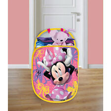 Disney Minnie Mouse Playhut Pop N' Play Pink Mesh Tote Hamper # 54622DT NIP