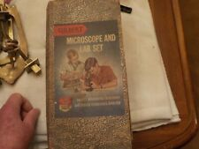 vintage gilbert microscope  no.13061 60-200-405 power in box