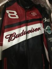 Dale Earnhardt Jr Leather Jacket Wilson's Nextel Cup Budweiser Size M