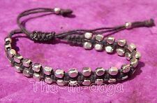 Bracelet Unisexe Bras ou cheville Ajustable Perles de Laiton Artisanat Inde 6