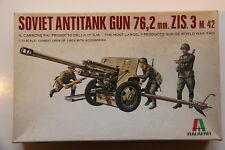 ITALAEREI 1/35 soviétique ZIS 3 M .42 76.2 mm Anti-Tank Gun & Crew, Comme neuf Kit