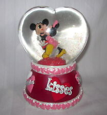 """DISNEY MICKEY MINNIE HEART SHAPED WATER GLOBE MUSICAL """"SO THIS IS LOVE"""""""