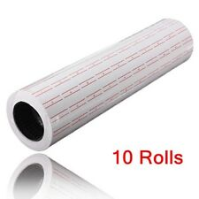 10 Rolls Single Line Price Label Tag Mark for Mx-5500 Price Gun Labeller White