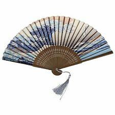 Japanese Handheld Folding Fan With Traditional Japanese Ukiyo-e Art Prints N8y7