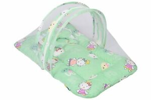New Born Baby Bedding Set Mattress with Mosquito Net and Pillow for 0-6 Months B