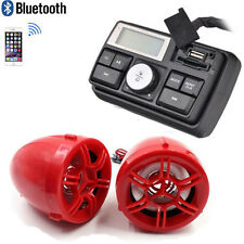 12V Motorcycle Handlebar Bluetooth MP3 USB SD FM Radio Stereo Amplifier Speaker