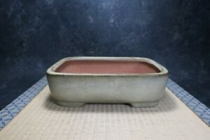 "Genuine Japanese Bonsai pot ""Hosyu""(Yamafusa) with patina, from Tokname."