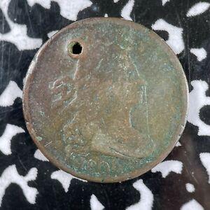 1806 U.S. Draped Bust Half Cent Lot#A404 Holed
