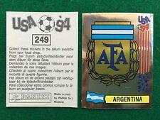 USA 94 1994 n 249 SCUDETTO BADGE ARGENTINA , Figurina Sticker Panini NEW