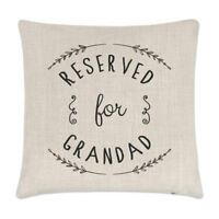 Reserved For Grandad Linen Cushion Cover - Pillow Funny Grandpa