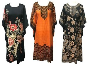 PLUS SIZE  KAFTAN TUNIC DRESS PONCHO FREE SIZE FITS16,18,20,22,24,26